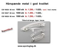 Hårspande Metal i god kvalitet