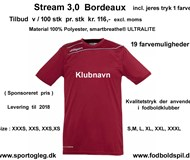 UHLSPORT Stream  3,0 incl. tryk Bordeaux