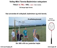 Volley - Tennis - Badminton  Netsystem  Tilbud
